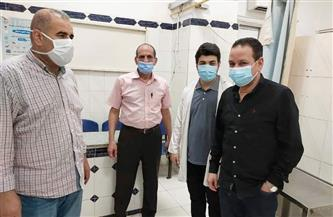 وكيل وزارة الصحة بالمنوفية يتفقد سير العمل في مراكز التطعيم بلقاح كورونا | صور