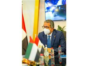 وزير السياحة يختتم زيارته للإمارات عقب المشاركة في «السوق السياحي العربي»