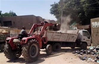 رفع 18 طن مخلفات وقمامة من قرى مركز طما في سوهاج |صور