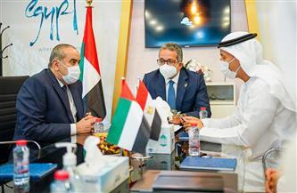 وزيرا السياحة والآثار والطيران المدني يلتقيان وزير دولة الإمارات العربية المتحدة لريادة الأعمال| صور