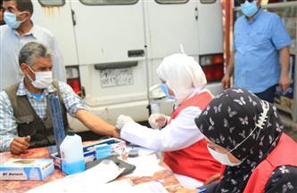 حملات لتوعية المواطنين بأهمية تلقي لقاح كورونا في البرلس| صور