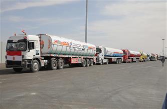 قافلة مساعدات مصرية في طريقها لقطاع غزة بتوجيه من الرئيس السيسي  صور