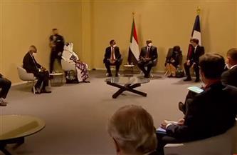 لقاء ثلاثي بين «ماكرون» ورئيس وزراء السودان ورئيس مجلس السيادة بباريس