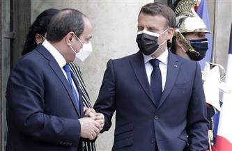 السيسي وماكرون يتفقان على زيادة حجم الاستثمارات الفرنسية في مصر
