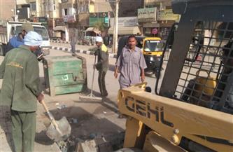 رفع 12 طنًا من الأتربة بمنطقة السجل المدني والمجمع الإسلامي جنوب الأقصر | صور