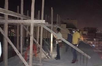 التصدي لبناء بدون ترخيص في حي الأزبكية
