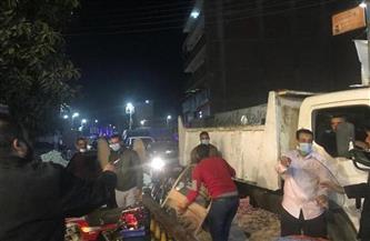 حملتان لإزالة الإشغالات واللافتات المخالفة من شوارع وسط الإسكندرية
