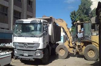 رفع 83 طن مخلفات من مناطق متفرقة بشوارع المنتزه بالإسكندرية
