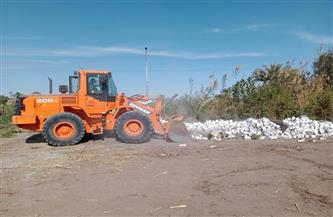 تنفيذ حالتي إزالة تعد على الأراضي الزراعية بطهطا في سوهاج