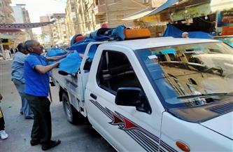 تشميع كافتيريا ومصادرة 8 شيش ورفع 150 حالة إشغال في حملة بدسوق |صور