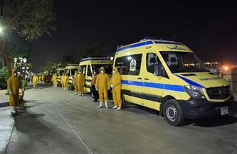 """""""الصحة"""": الدفع بـ 165 سيارة إسعاف مجهزة بعناية مركزة وجهاز تنفس صناعي لاستقبال مصابي غزة"""