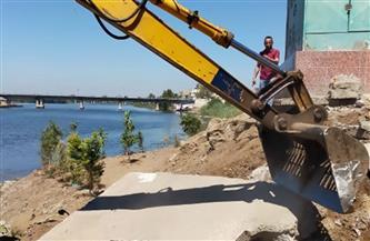 وزارة الرى تواصل حملاتها لإزالة التعديات على نهر النيل |صور
