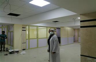 رئيس مدينة سفاجا تتفقد أعمال التشطيب النهائية بالمركز التكنولوجي لخدمة المواطنين | صور