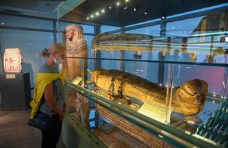 استقبال أول سائحة روسية بمتحف مبنى الركاب فى مطار القاهرة