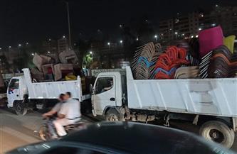 حي الهرم يشن حملات لرفع الإشغالات ورصد مخالفات الطرق| صور