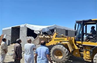 إزالة  تعد على أراضي الدولة على مساحة 10 آلاف متر في حوش عيسى