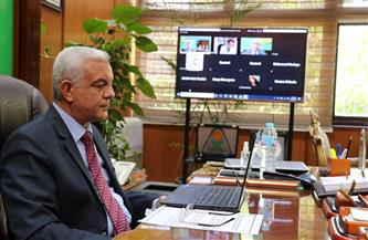 """رئيس جامعة المنوفية يفتتح المؤتمر العالمي لجراحة الكبد """"أون لاين""""  صور"""