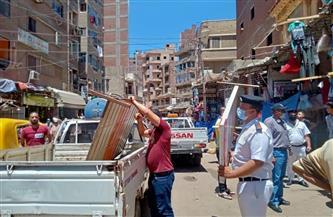 حملة مكبرة لإزالة الإشغالات بشوارع دسوق بكفرالشيخ   صور