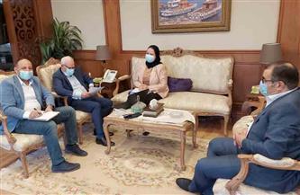 محافظ بورسعيد يستقبل أمين عام حزب الشعب الجمهورى لمناقشة خطط التنمية
