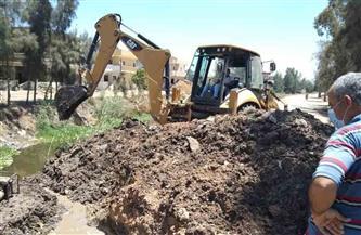 متابعة إصلاح خط مياه الشرب 600  بقرية شابة بدسوق