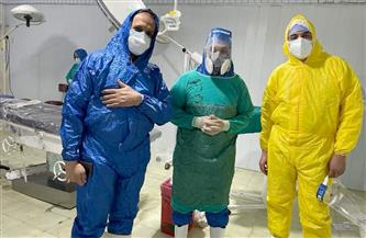 نجاح عملية ولادة قيصرية طارئة لمريضة كورونا بمستشفى تلا المركزي بالمنوفية| صور