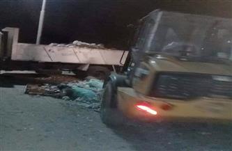 رفع 75 طن مخلفات وقمامة وإشغالات من مركز أخميم| صور