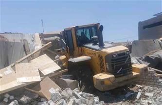 إزالة 23 حالة تعد لعقارات تحت الإنشاء ومقابر مخالفة في الشرقية