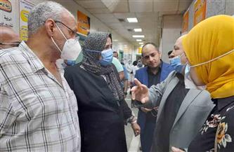 محافظ كفر الشيخ يطمئن على حالة 11 مصابا في حادث انقلاب سيارة على طريق المحلة | صور