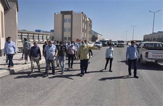 استمرار توصيل المرافق والرصف بمجمع الصناعات بمنطقة عرب العوامر| صور