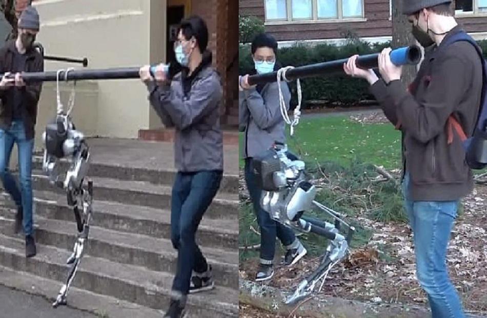 روبوت كفيف يستخدم أسلوًبا غامضًا في تعلم صعود الدرج