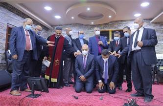 رئيس الإنجيلية يشهد رسامة شيوخ وشمامسة جدد لكنيسة كفر العلو