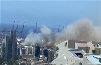 مصادر لبنانية: حريق في مرفأ بيروت
