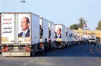 قصة 36 ساعة لنواب التنسيقية على الحدود المصرية الفلسطينينية المشاركين في أكبر قافلة هدية من الرئيس   صور