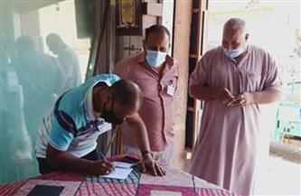 استمرار حملات مراجعة تراخيص المحلات وتنفيذ الإجراءات الاحترازية بمدينة رأس غارب | صور