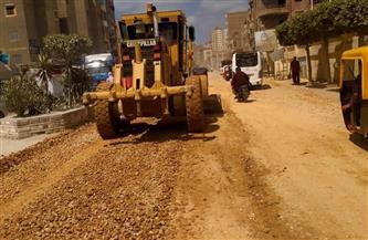 رئيس مدينة دسوق بكفرالشيخ تتابع عمليات رصف طريق الصالحية |صور