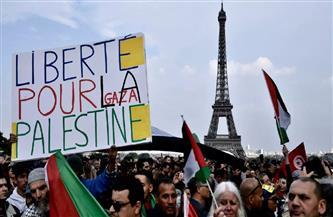 آلاف يتظاهرون في فرنسا دعما لحقوق الفلسطينيين