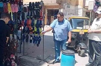 رفع 40 حالة إشغالات وتحرير 8 محاضر فى حملة بمدينة الباجور | صور
