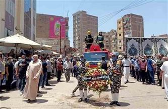 تشييع جنازة المقدم حسن سليمان بمسقط رأسه بالقليوبية / صور