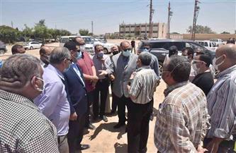 محافظ أسيوط يتفقد سير العمل بمحطة رفع صرف صحي الحما |صور
