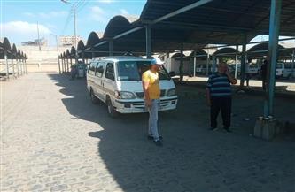 متابعة سير حركة السيارات الأجرة بالمواقف العمومية بمدينة دسوق كفرالشيخ |صور