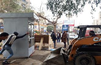 حملة لرفع الإشغالات من الشوارع الحيوية في المطرية