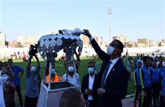 محافظ الفيوم يشهد مراسم إطلاق شعلة أولمبياد الطفل المصري| صور