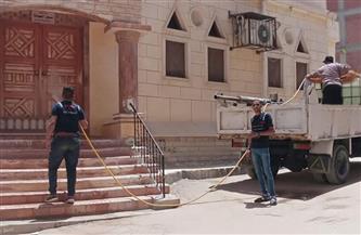 تطهير 11 مسجدًا وكنيسة لمواجهة انتشار كورونا بالعامرية في الإسكندرية | صور
