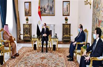 الرئيس السيسي يستقبل تركي آل الشيخ بحضور عباس كامل