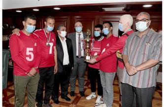 محافظ بنى سويف يكرم  نادى مبارك لمتحدي الإعاقة بعد فوزه بكأس مصر لكرة الهدف