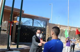 محافظ شمال سيناء يوقد شعلة أوليمبياد الطفل المصري في نسخته الثالثة | صور