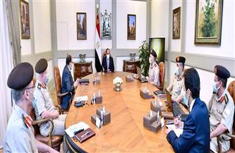"""الرئيس يطلع على الموقف التنفيذي لمحطات الصرف والمعالجة والرفع والمسارات المائية لـ""""دلتا مصر"""""""