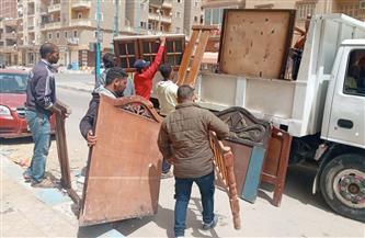 رفع 50 حالة إشغال طريق من شوارع شرق الإسكندرية