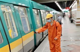 شركة المترو تواصل تطهير وتعقيم المحطات والقطارات بالخطوط الثلاثة