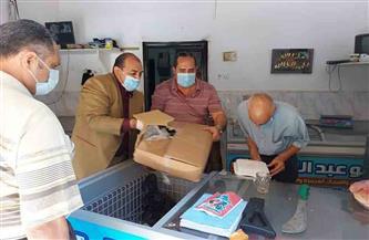تحرير ٨ محاضر تموينية بمدينة الزينية في الأقصر
